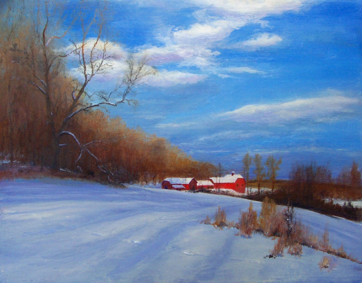 Late Day Sunlight on Fresh Snow