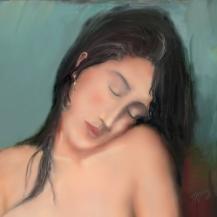 l'amica di Modigliani, detail