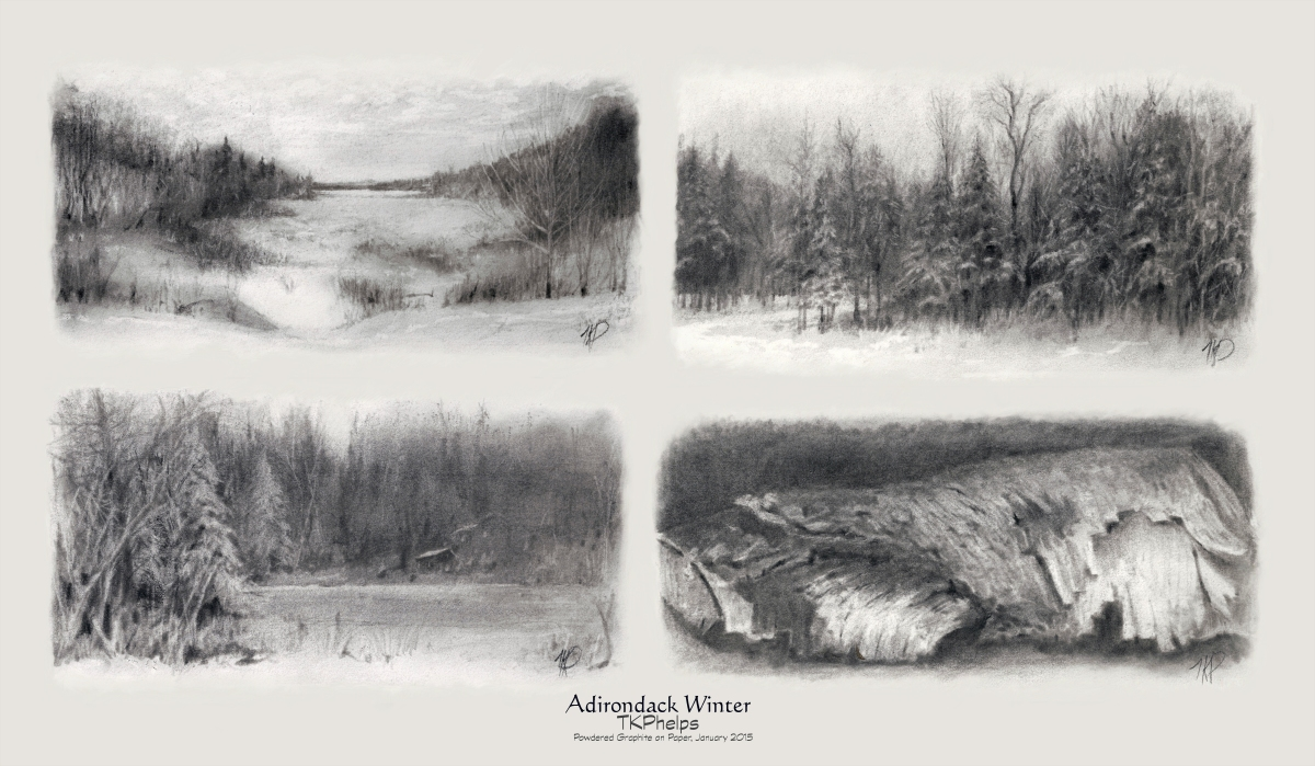 Adirondack Winter, Powdered Graphite Set