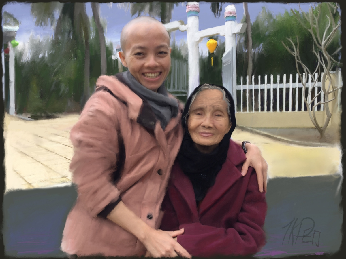 Sư Cô Đức Quang and her Grandmother