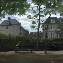 Jardin du Luxembourg et L'École des Mines de Paris